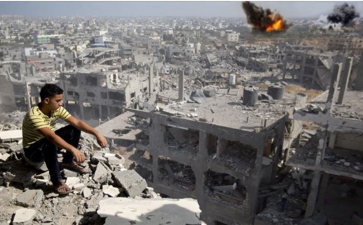 """The Arab League condemned, Wednesday, the latest Israeli bombardment of different parts of the Gaza Strip, and said that the """"extremist Israeli government is trying to make excuses for its new war on the coastal enclave."""""""