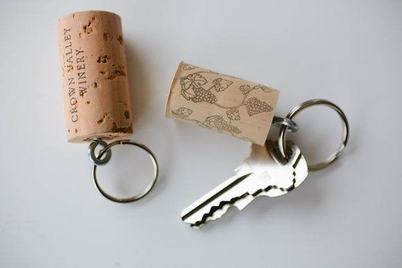 Wine cork keychain, nice way to recycle corks!