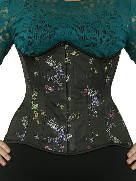 This original design by Orchard Corset has extreme curves to flatter and shape. Crafted from the finest polybrocade that is sturdier than our luxurious satin. The CS-426 steel boned waist trainer is made with a contoured underbust line that is curved to fit directly under the bust and is longer in the torso than our standard underbust corset (here is a video to help you decide if you are long enough). One of our best options for fuller figures! The corset is completely lined in 100% cotton…