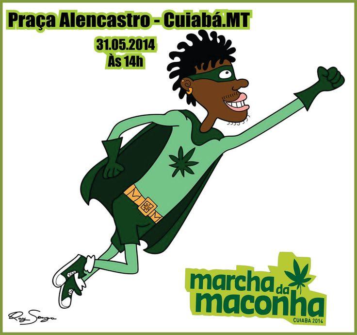 """Cartaz de minha autoria para o evento regional """"Marcha da Maconha 2014"""". É pertinente o debate sobre a legalização da cannabis ?"""