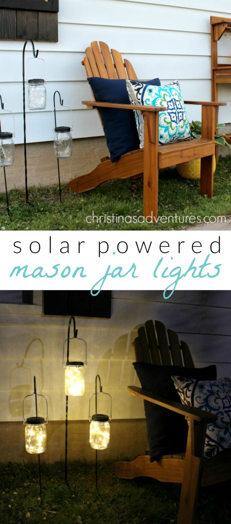 solar powered mason jar lights - these are the CUTEST! Perfect for outdoor entertaining & ambiance <3