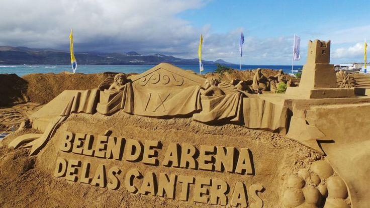 Belén de arena de Las Canteras - Las Palmas.