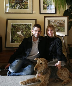 Greg, Rebecca and Tussock from Endemic Gallery, Roxburgh. Local Artists. http://www.centralotagonz.com/arts_culture_heritage
