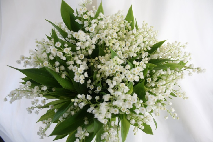 Someone once asked us to incorporate lilies of the valley into a wedding bouquet. This is a gorgeous and classic way to do it!