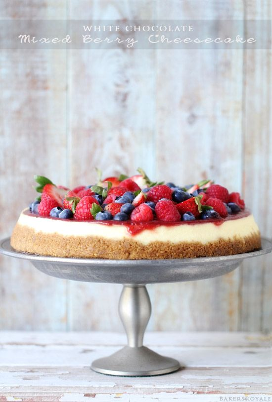 White Chocolate Cheesecake with Mixed Berries from Bakers Royale