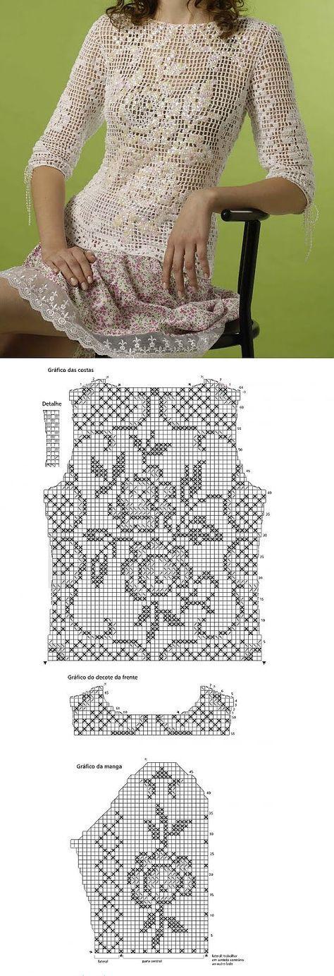 Mejores 140 imágenes de patrones a crochet en Pinterest