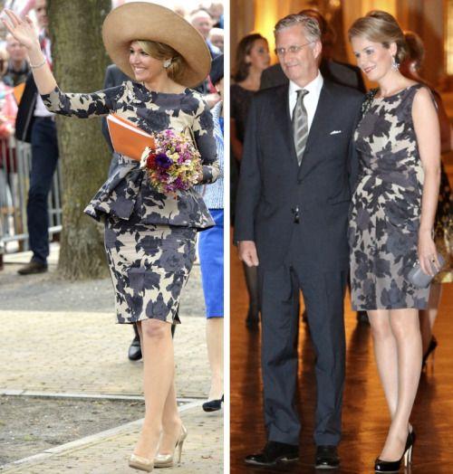 royal roaster: Queen Maxima and Queen Mathilde in Natan