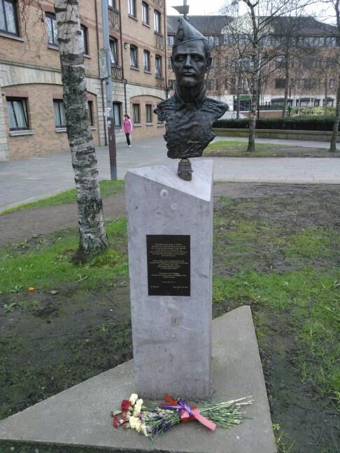 Spanish Civil War Memorial. Writer's Square, Belfast