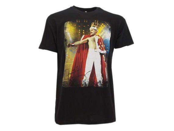 Maglietta manica corta di Freddy Mercury dei Queen disponibile nella taglia M. 100% cotone. Prodotto originale.