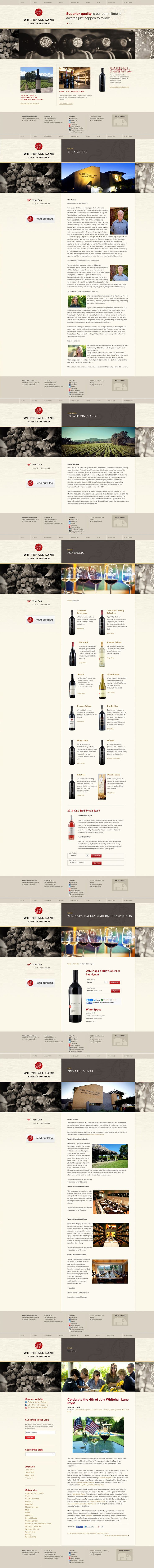 Whitehall Lane Winery   Website   by designthis!