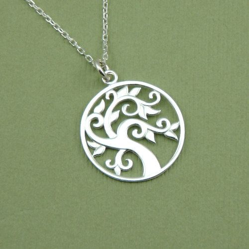 Celtic Tree Necklace , sterling silver, pendant, necklaces, handmade, tree…