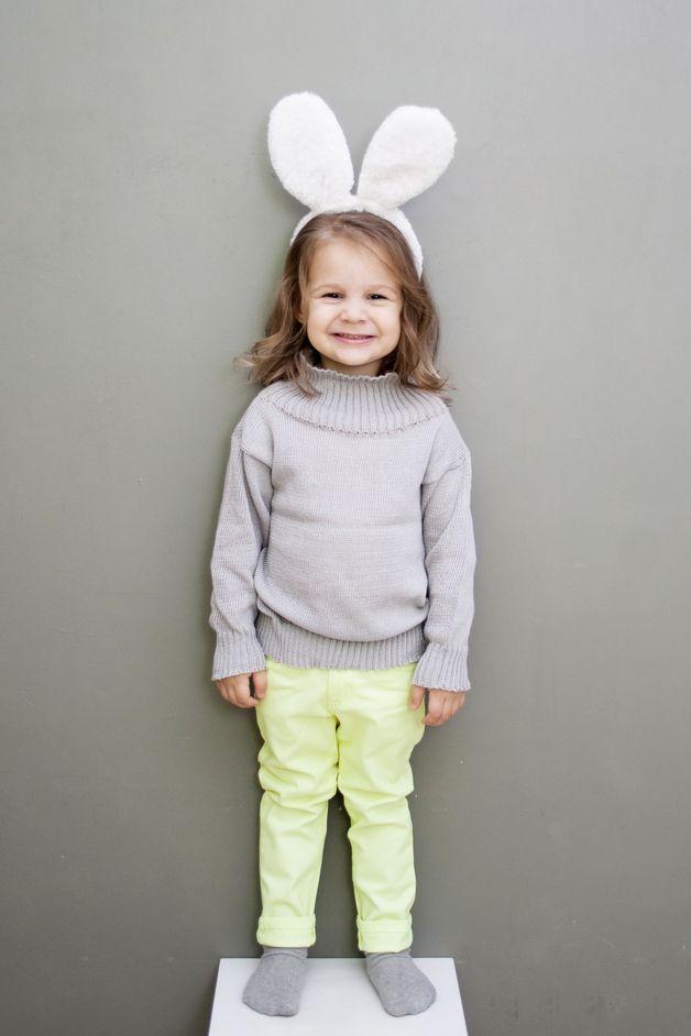 Jacken - Organic Cotton Bio-Baumwolle Grau Kinder Pullover - ein Designerstück von CloudberryFactory bei DaWanda