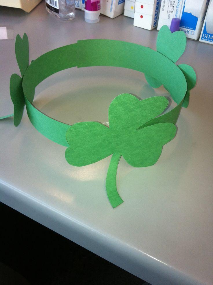 #StPatricksDay hats! #crafts #shamrock #clover