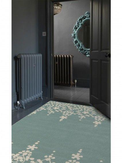Wollteppich Matrix Guild Blau #benuta #teppich #modern #interior #rug