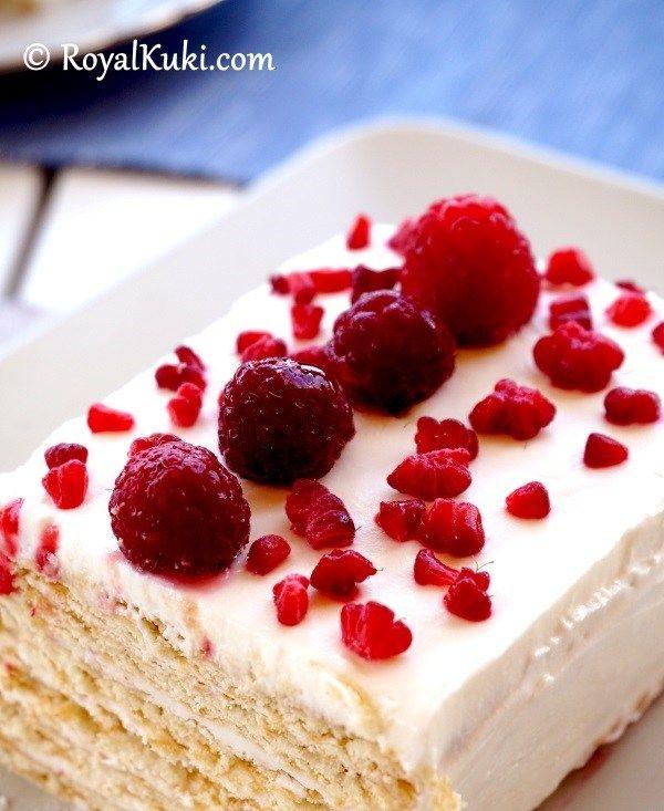 Sadece 15 dakikada hazırlanan; Labneli Bisküvili Kolay Yaş Pasta