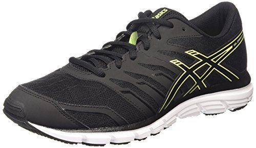 Asics Patriot 8, Chaussures de Running Compétition Homme, Multicolore (Black/Lightning/Vermilion), 40 EU