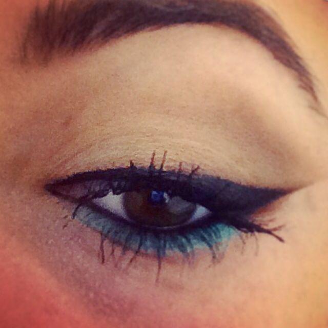 Blue wing eyeliner