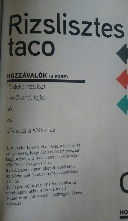 Rizslisztes taco - Éva magazin