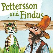 Pettersson und Findus website with coloring pages, games, crafts, book reviews and more.