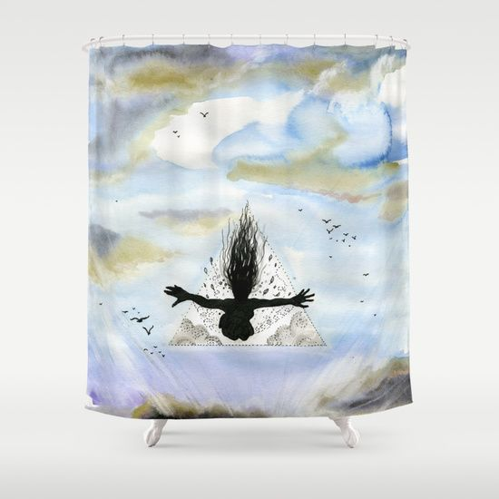 Full speed in to this world. Shower Curtain. 68$  About the artist: http://lisbeththygesen.mono.net/english