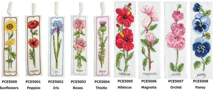 【楽天市場】Anchorクロスステッチ刺繍キット PCE5000 ~ 5008 「Flower Bookmark」 (花のしおり) イギリスの刺しゅうメーカー 「アンカー」クロスししゅうキット 花柄:HAND WORK とりい