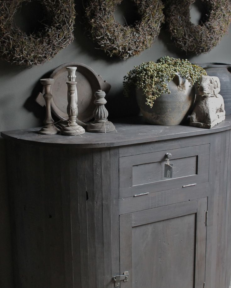 ♅ Dove Gray Home Decor ♅ lovely french-inspired grey sideboard