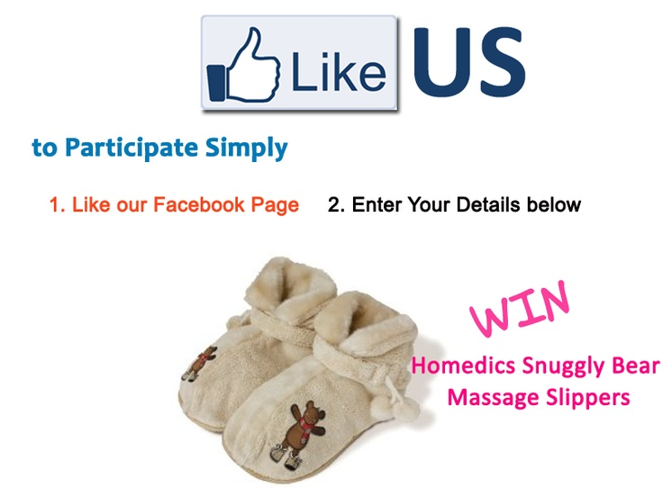 Win Snuggly Bear Massage Slippers