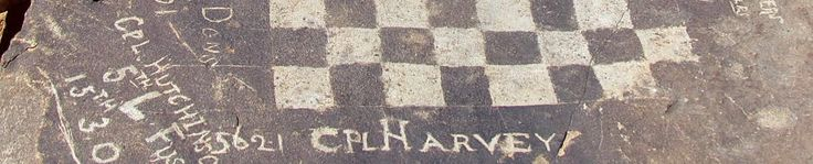 The engraved chessboard on top of Saltpeterkop near Cradock dating back to the Anglo Boer War (1899-1902) #Sight2SeeInTheKaroo