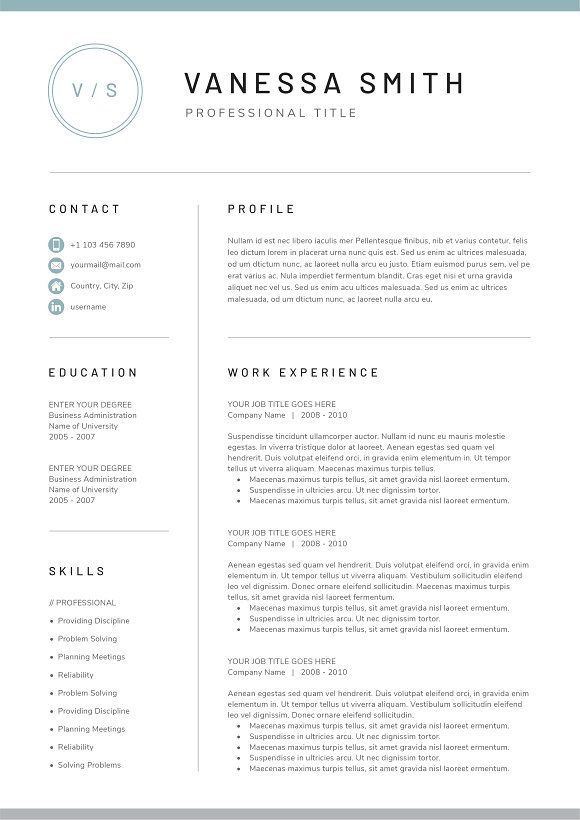 word resume cover letter creativework247