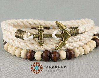 Bracelet surfeur mens bracelet ancre #426