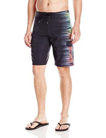 Speedo Men's Interference Glow Boardshort Workout & Swim Trunks, Speedo Black, Size 36
