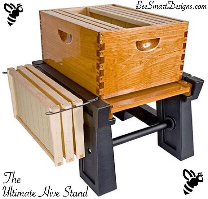 Bee Smart Designs very own Ultimate Hive Stand Head to our website to read why we are preferred over competitors products! Www.BeeSmartDesigns.com. #bee #bees #beekeeper #beekeeping #beekeep #apiary #hive #hives #hivestand #honey #nector #englishgarden #designs #feeder #beefeeder #savethebees #beesmart #beekeepingideas #diybeekeeper