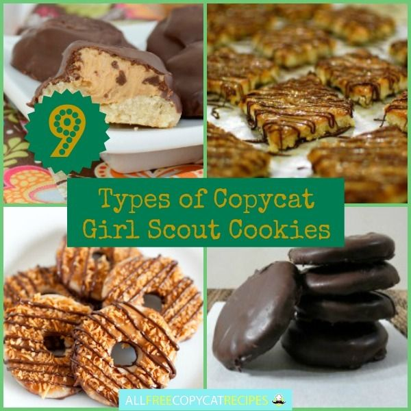 9 Types of Copycat Girl Scout Cookies: Your Favorite Copycat Girl Scout Cookie Flavors eCookbook