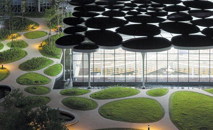 Biblioteca del Colegio de Ciencias Sociales de la Universidad Nacional, Taipei, Taiwán - Toyo Ito & Associates - © Iwan Baan