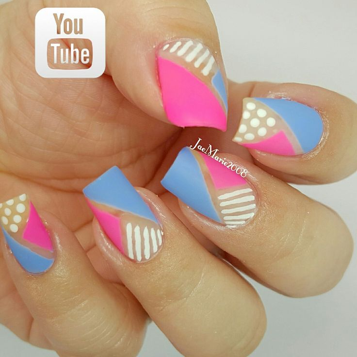 100 best my nail art designs jaemarie2008 images on pinterest 90s inspired color block by jaemarie2008 full nail art tutorial on my youtube channel https prinsesfo Images
