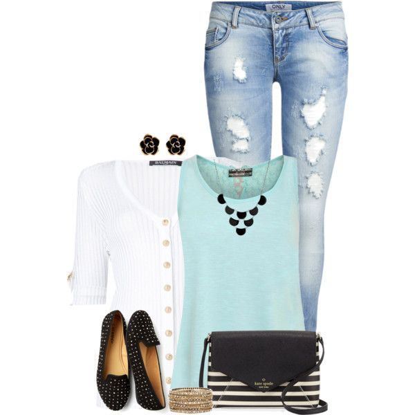 A fashion look from June 2016 featuring Pilot tops, Balmain cardigans and ONLY jeans. Browse and shop related looks.