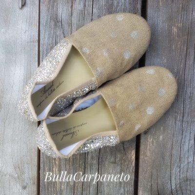 Scarpe Anniel soft slipper pois  NUMERO:  40 #anniel #slipper #slipon #shoes #scarpe #pois #polkadot #glitter #sparkling #shoponline #moda