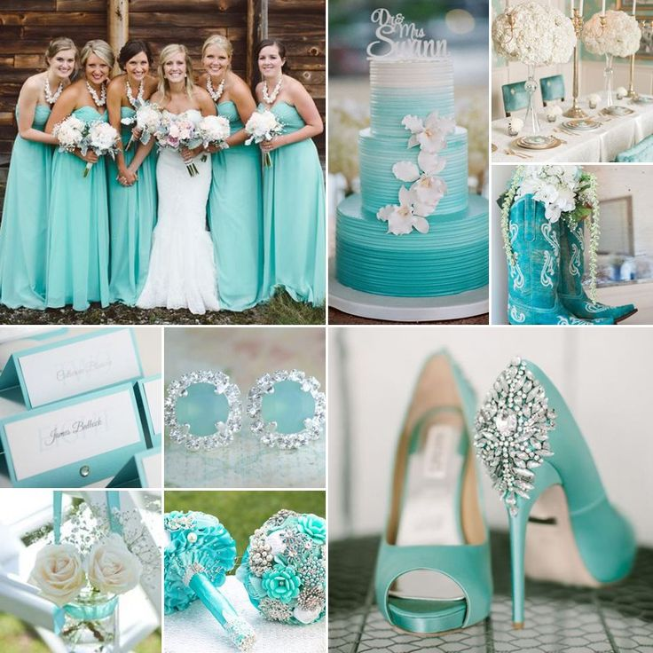 An aqua wedding will get the stamp of approval from all parties, and is perfect any time of year.