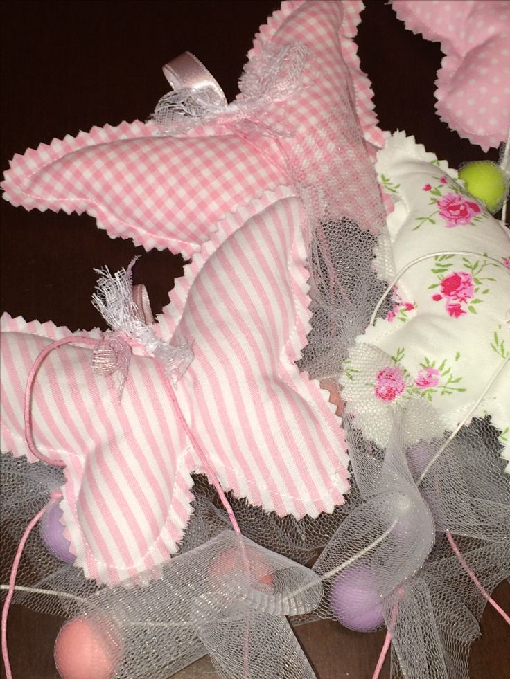 Favors fabric butterflies with composed fabrics  - Μπομπονιέριες πεταλούδες σε συνδυασμούς υφασμάτων  #favorchristening #butterflyfavor #handmadefavor #christening #mpomponieres #almanogr #μπομπονιερες #βάφτιση