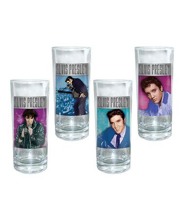 Take a look at this Vandor Elvis Presley 10-Oz. Glass Set by Film & TV Classics: Kitchen Accents on #zulily today!