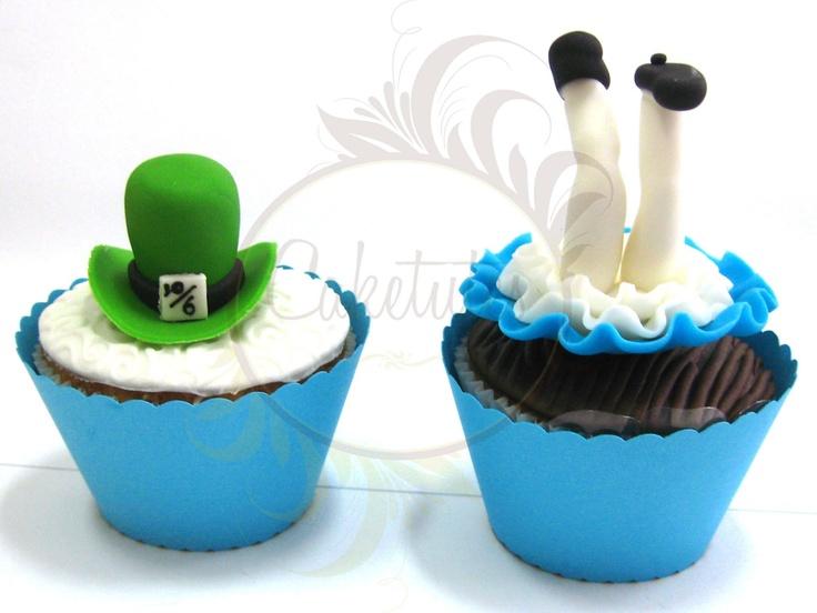Alice in Wonderland Cupcakes - Caketutes Cake Designer: Alice no Pais das Maravilhas