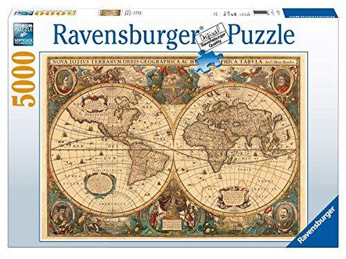 Ravensburger Antique World Map Puzzle (5000 Pieces) Raven…