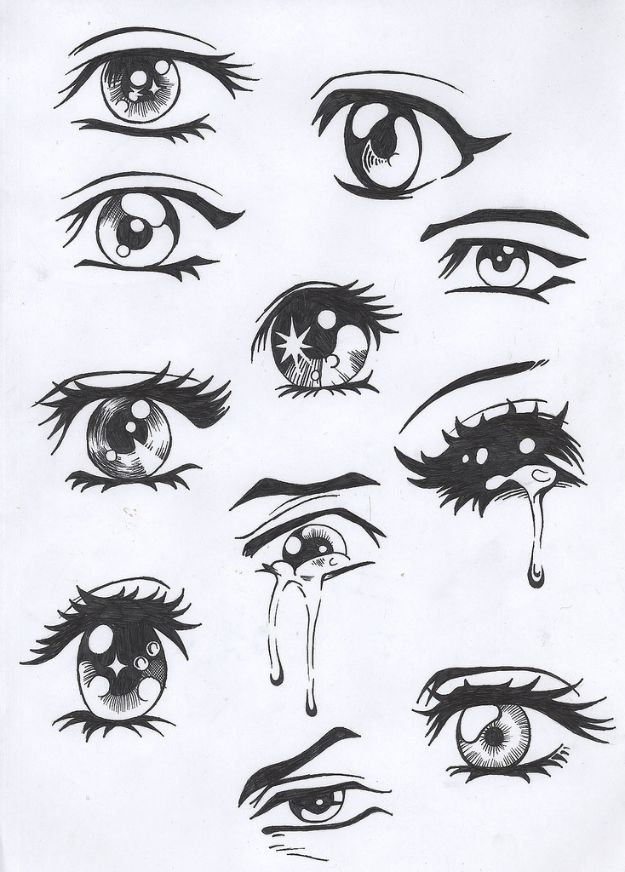 100 Tutorials To Teach You How To Draw Drawings Easy Anime Eyes Anime Drawings