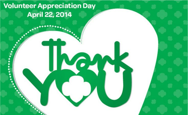 Girl Scout Volunteer Appreciation Day is April 22
