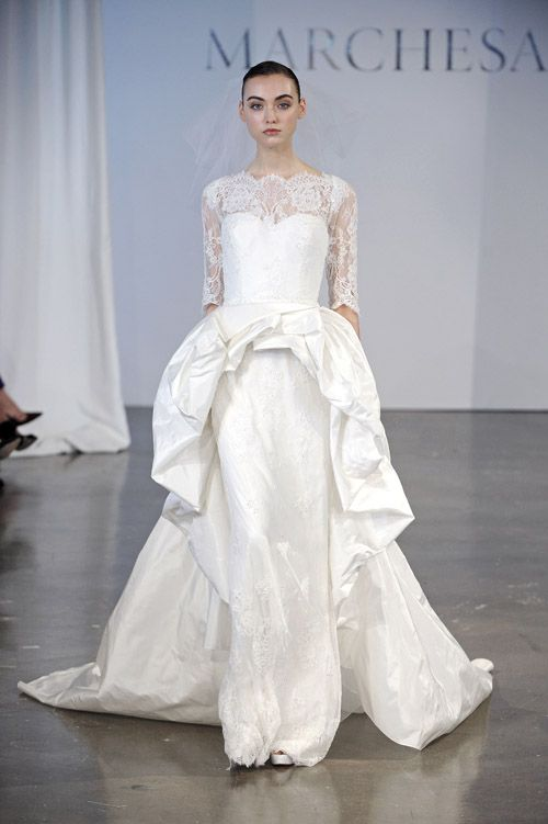 Marchesa wedding dress from the Spring 2014 bridal collection   via junebugweddings.com