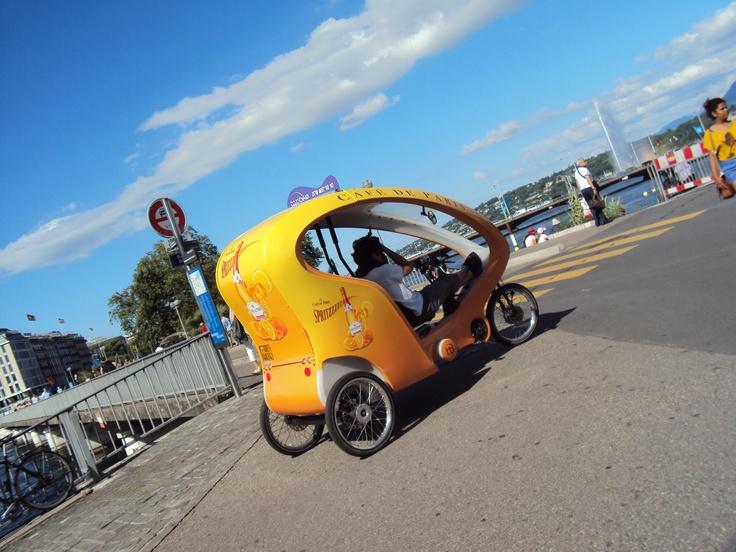 #Bike #taxi in #Geneva.