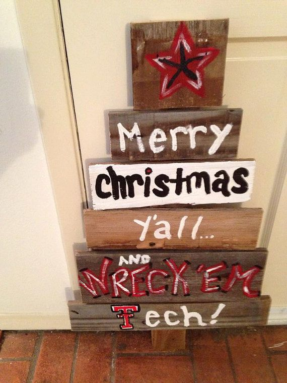 Adorable TEXAS TECH inspired Reclaimed Wooden by millcrossingwest