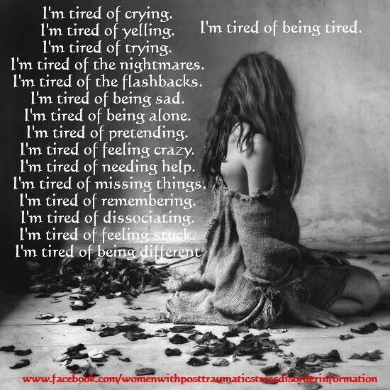 I'm tired A Recovery from Narcissistic sociopath relationship abuse
