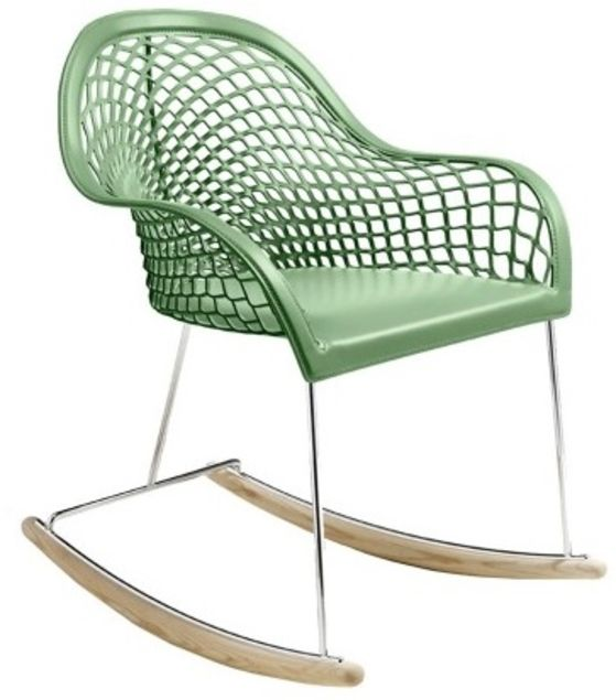 Rocking chair design en cuir - Sledge