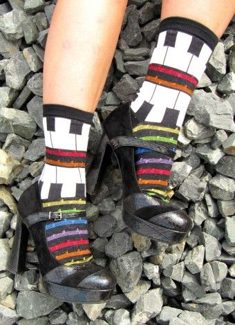 Piano Play Crew socks - perfect gift for musicians!